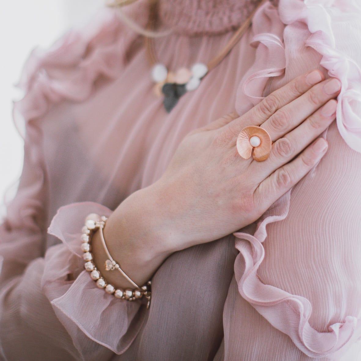 Jewelry in rosegold